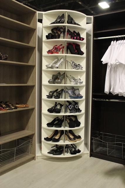Delightful 360 Degree Revolving Closet Organizer Contemporary Closet