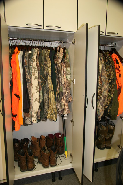 A Garage for Hunting and Car Enthusiasts - Contemporary - Closet - other metro - by Creative ...