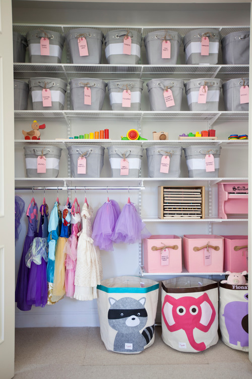 Transitional Kids Playroom by San Francisco Closet Designers and Professional Organizers NEAT Method