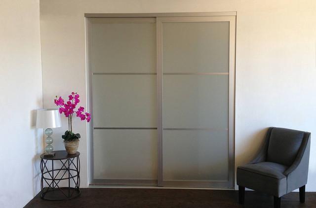 Acrylic amp Glass Sliding Closet Doors Room Dividers Contemporary Los Angeles