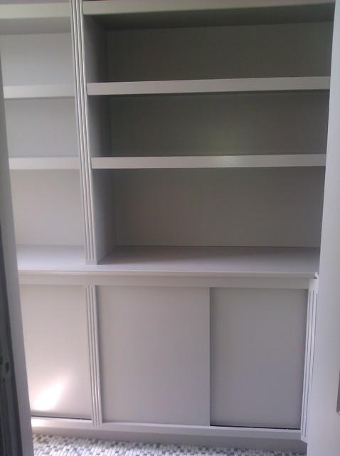 adjustable shelving custom cabinet - Traditional - Closet - newark - by World Contracting LLC