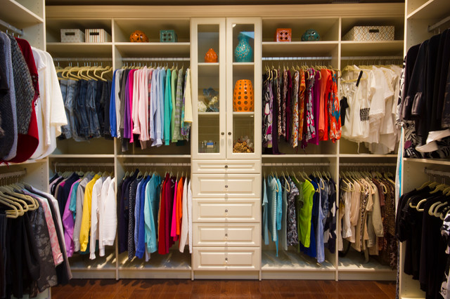 Amazing Closet That Feels Like A High End Boutique Traditional Wardrobe