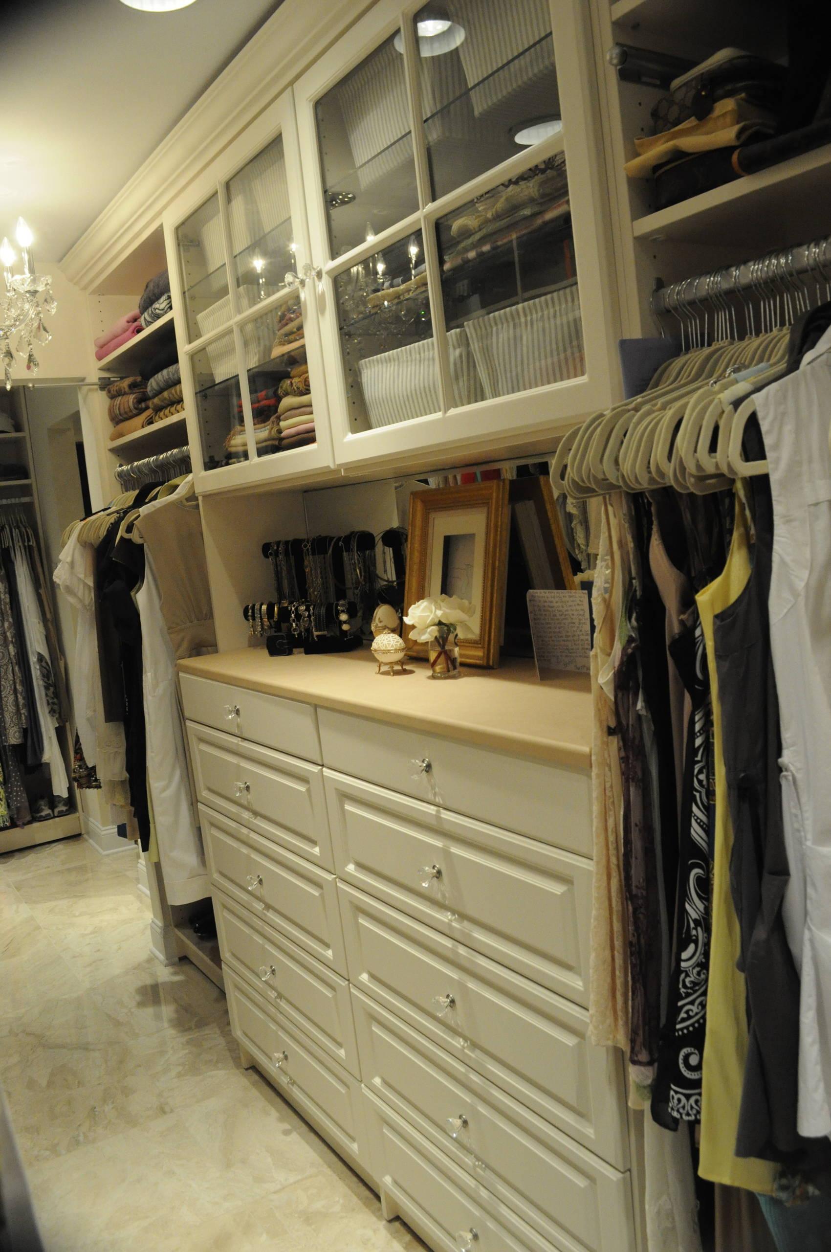 Antique color walk in closet