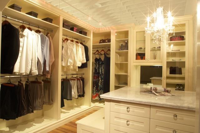 Antique White Dream Closet Traditional