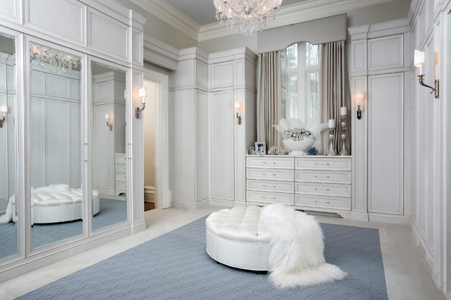 Example Of A Transitional Walk In Closet Design In Atlanta