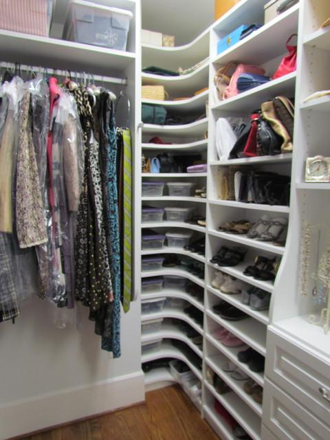 Atlanta Closet Corner Shoe Shelves 01 - Traditional ...