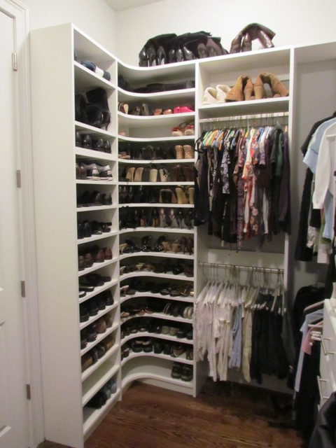 Atlanta Closet Corner Shoe Shelves 02 - Contemporary - Closet - Atlanta - by Atlanta Closet ...