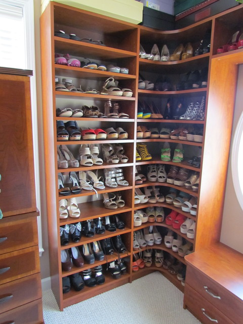 Atlanta Closet Corner Shoe Shelves 03 Traditional Closet