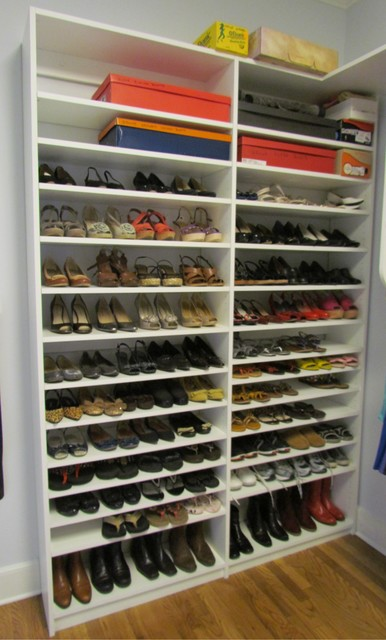 Atlanta Closet Double Shoe Shelves - Contemporary - Closet - Atlanta - by Atlanta Closet ...