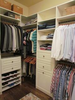 Atlanta Closet Man S Side Of Walk In Closet Traditional