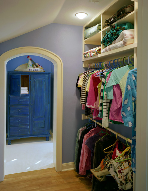 Attic Conversion To Bedroom Traditional Closet