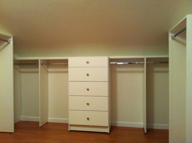 Beautiful Attic Converted Into Closet Traditional Closet