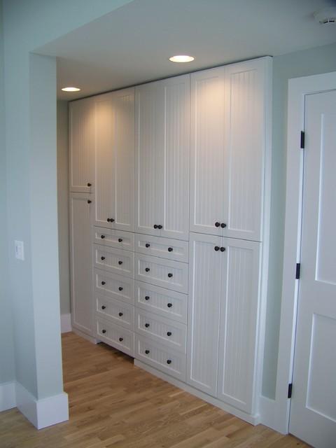 amazing cape cod closets #1: Beach House on Cape Cod Amoire Closet Storage contemporary-closet