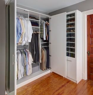 beautiful white custom closet  transitional  closet