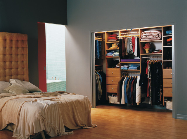 Bedrooms traditional-closet