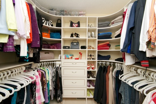 Before And After. Contemporary Wardrobe