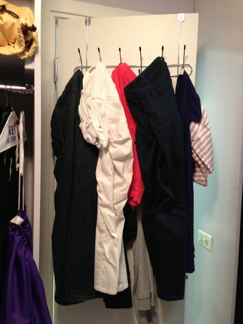 Before getting organized traditional-closet