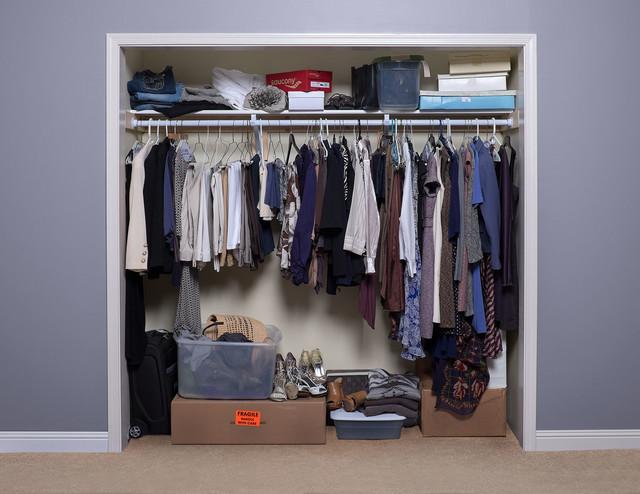 before reach in closet upgrade