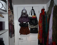behind door traditional closet