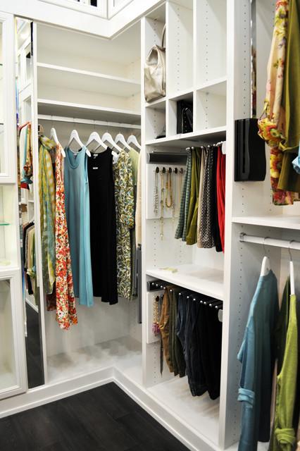 Belissima White Master Closet - Modern - Closet - Minneapolis - by California Closets Twin Cities