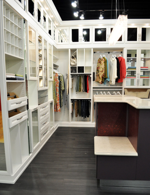 Belissima White Master Closet - Modern - Closet - minneapolis - by California Closets Twin Cities