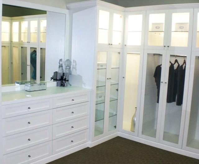 Bellisima White Shaker Style Wardrobe Contemporary