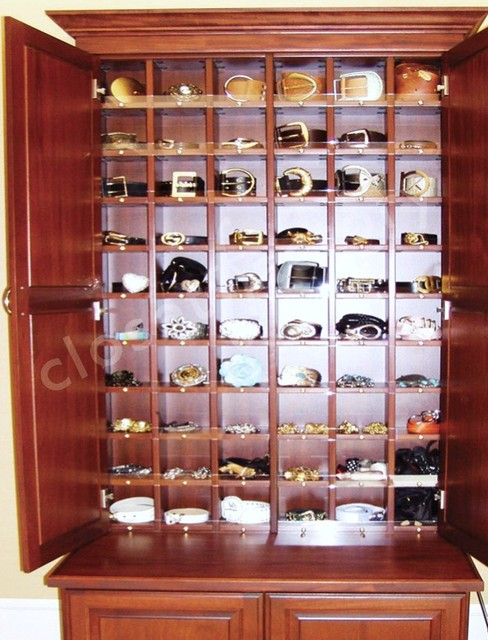 Amazing Belt Storage Cabinet Traditional Closet
