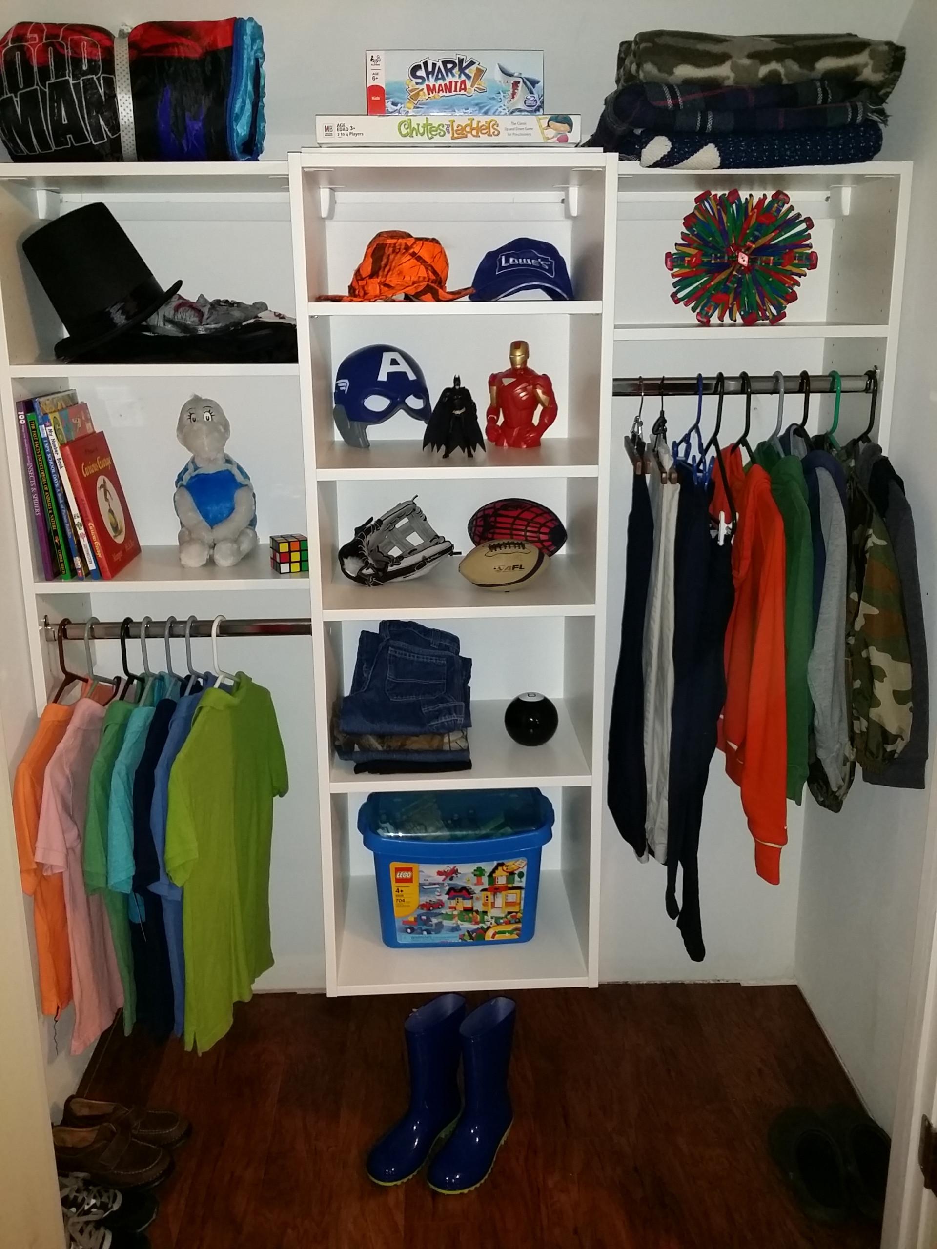 Boys Reach-In Closet
