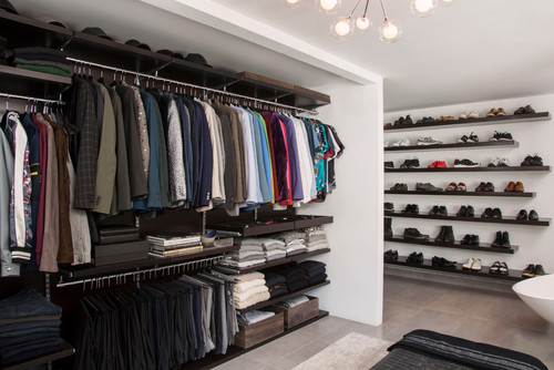 Photo by Lisa Adams, LA Closet Design - Discover contemporary closet design  ideas bf2bde5d49