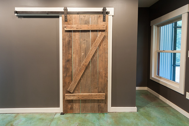 Broom Closet With Barn Door Eclectic Closet Atlanta By Jw