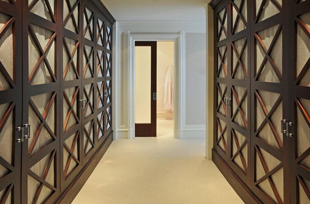 traditional closet by BROWN DAVIS INTERIORS, INC.