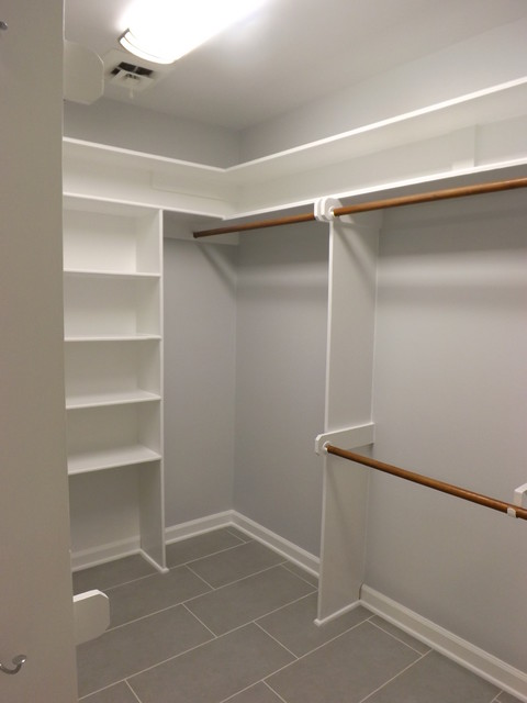 Example Of A Clic Closet Design In Raleigh