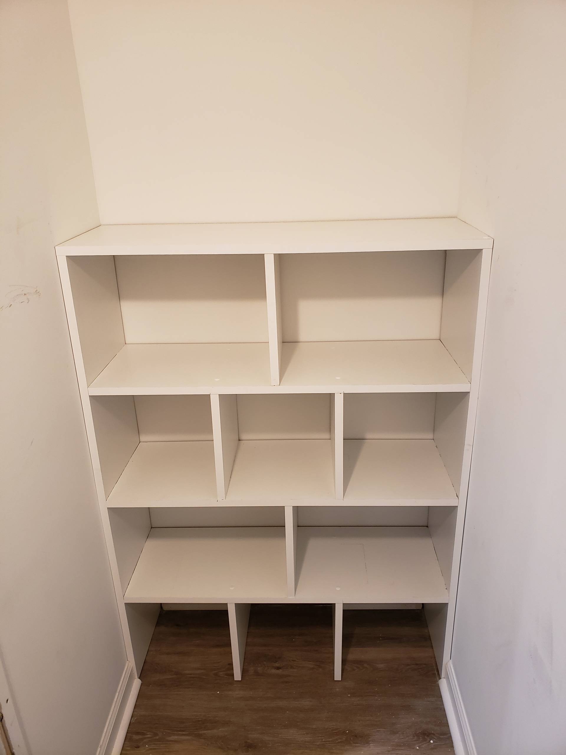 Built Custom Closet Shelves with Two Bathroom Renovations