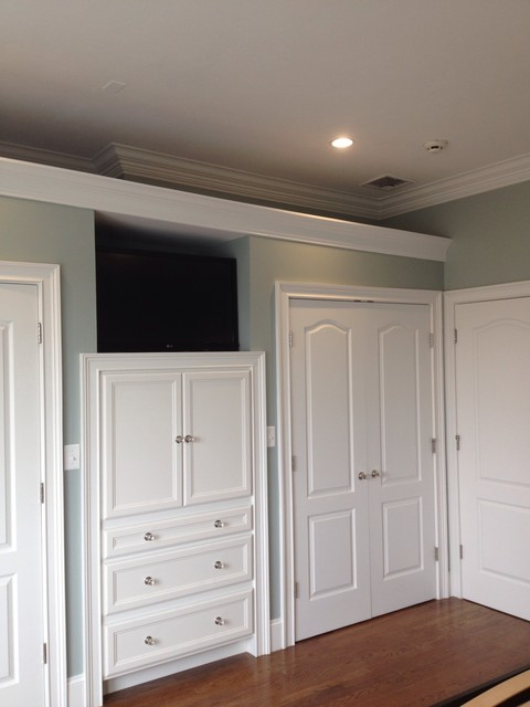 built in cabinets in master bedroom - Traditional - Closet - boston - by Brosseau construction
