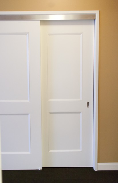 Delightful Bypass Doors Contemporary Closet