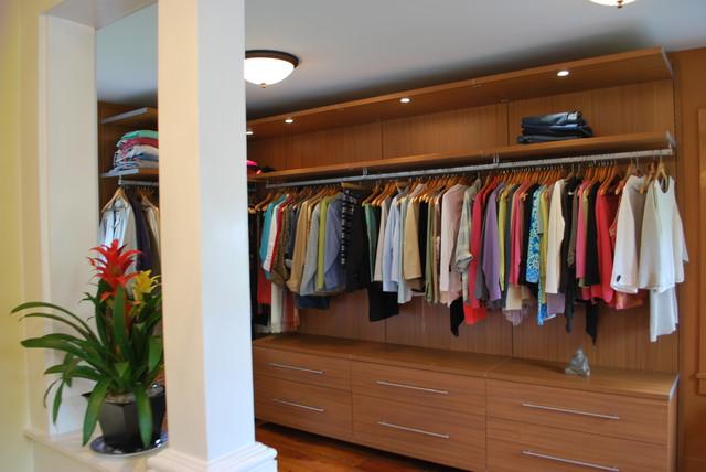 California Closets Virtuoso Style Closet And A Linen Armoire  Contemporary Wardrobe