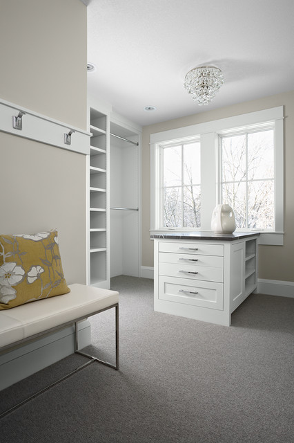 Calm, Cool, Collected Master Suite traditional-closet