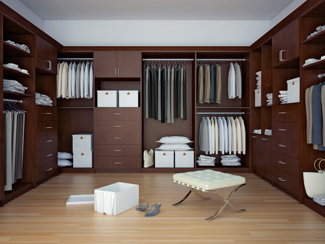 Canyon Creek - Walk-In Closet in Matrix Mahogany contemporary closet