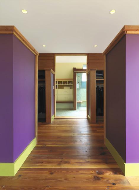 Charlotte, VT Residence - Walk-in Closet Area modern-closet