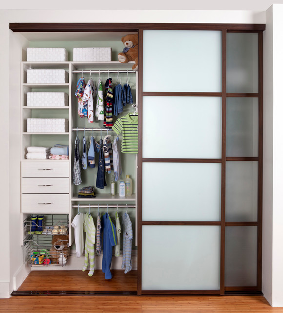 Children S Reach In Closet Contemporary Closet New