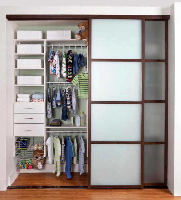 Children S Reach In Closet Contemporary Closet New