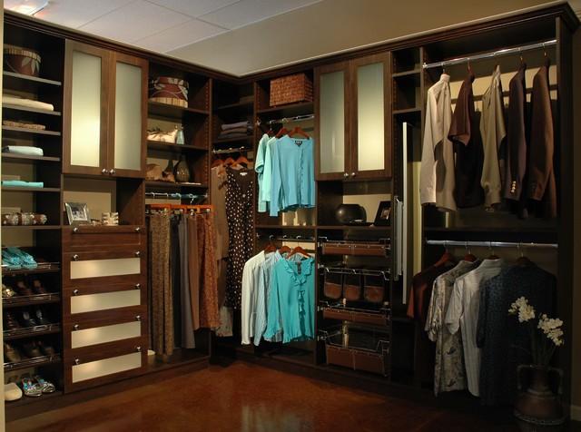 Chocolate Pear Floor Mount contemporary-closet