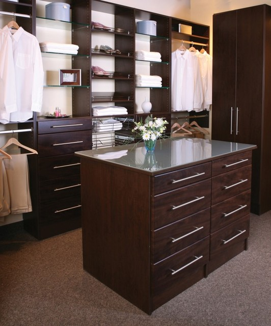 Chocolate Wood Solutions Closet traditional closet