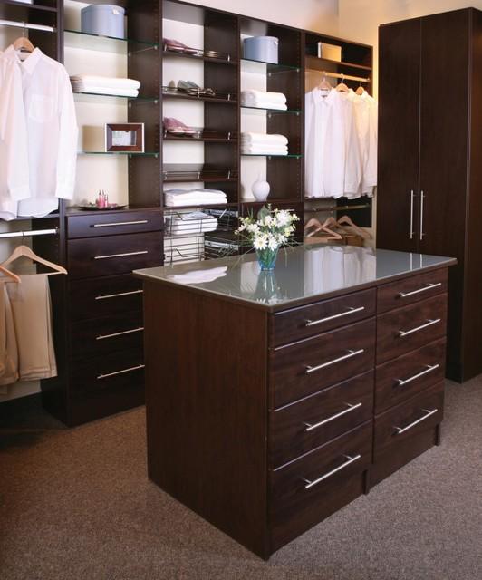 Chocolate Wood Solutions Closet traditional-closet