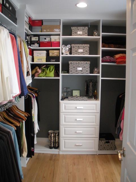 Classic White Walk-in Closet traditional-closet