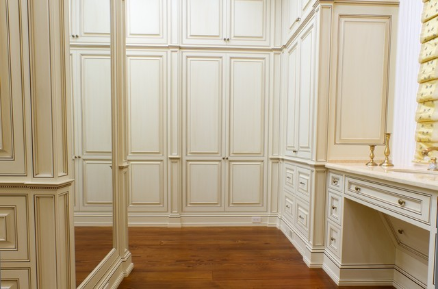 Classical Glazed White Dressing Room Traditional