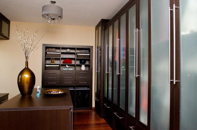 Clean and Concealed Dressing Room - Modern - Förvaring & garderob ...
