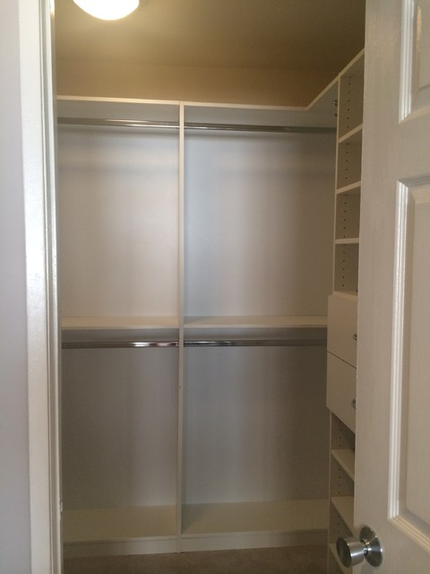 His and hers small walk in closet closet los angeles for His and hers walk in closet