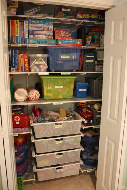 Beautiful Closet Designs: Toy/Game Closet (AFTER) Transitional Closet