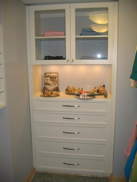 Closet drawers traditional closet